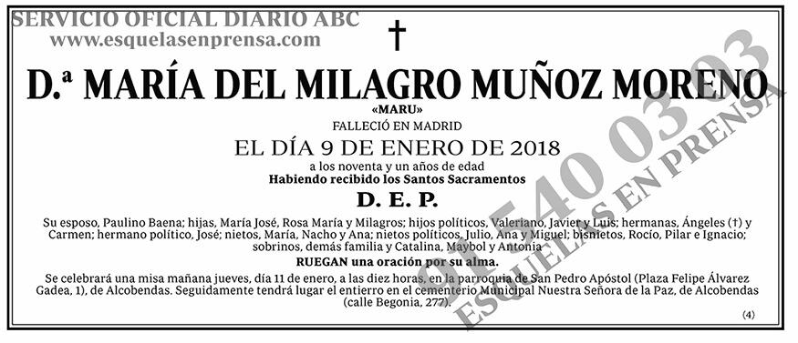 María del Milagro Muñoz Moreno